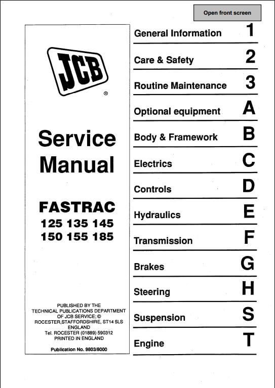 Free Service Manual Jcb 520 40