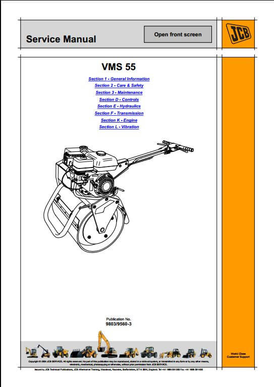 JCB VMS 55 Roller Service Repair Manual | A Repair Manual Store Wiring Diagram Jcb B Hl on jcb 530 specifications, jcb telehandler parts, jcb backhoe parts exploded views,