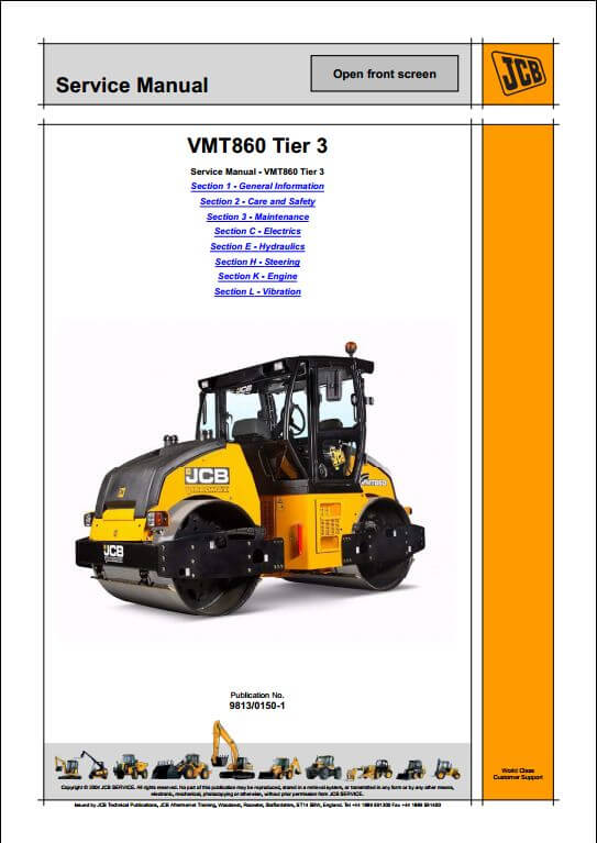 JCB VMT860 Tier 3 Roller Service Repair Manual – Jcb Skid Steer Wiring Diagram