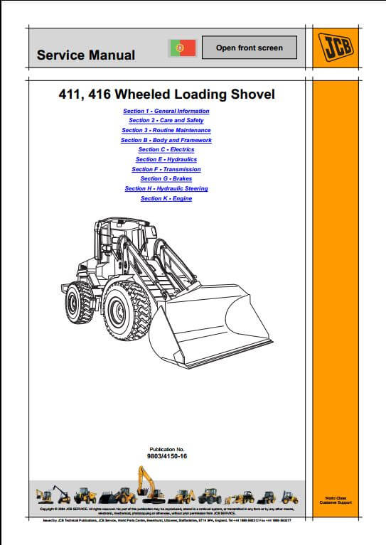 1115 jcb 411,416 wheeled loader service repair manual a repair manual jcb 508c wiring diagram at panicattacktreatment.co