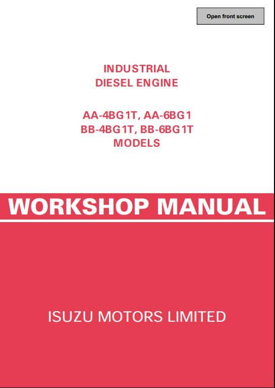 isuzu engine aa 4bg1t aa 6bg1 bb 4bg1t bb 6bg1t workshop service rh arepairmanual com Isuzu 3 Cylinder Diesel Engine Isuzu 6BD1