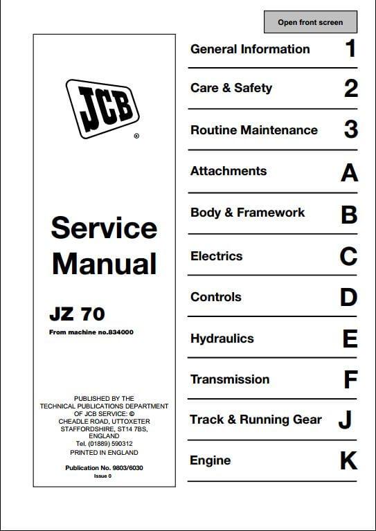 john deere 70 skid steer service manual