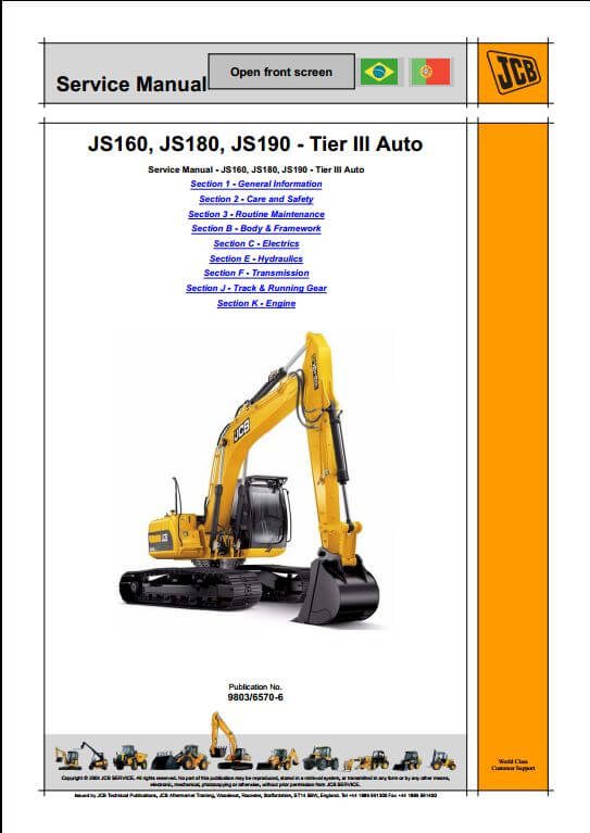 1144 jcb js160, js180, js190 tier iii auto tracked excavators service jcb js 160 wiring diagram at fashall.co
