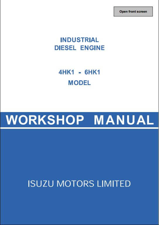 isuzu engine 4hk1 6hk1 workshop service repair manual a repair rh arepairmanual com