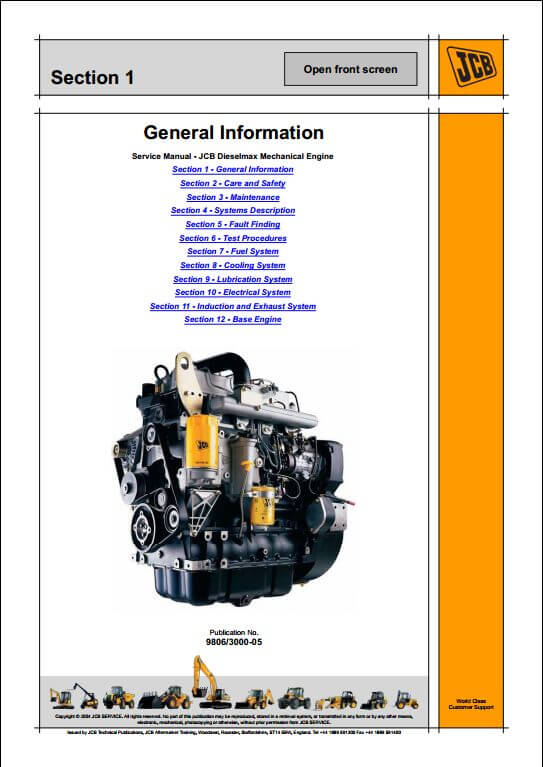 jcb dieselmax mechanical engine sa sc build service