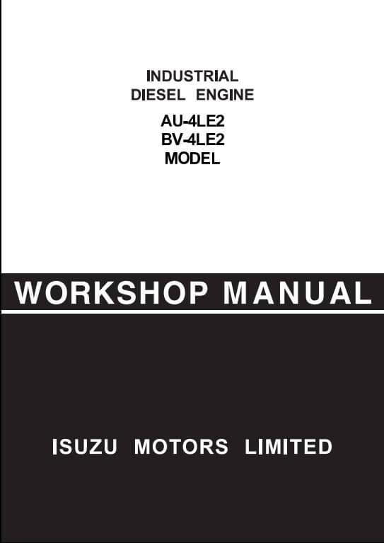 isuzu engine au 4le2 bv 4le2 workshop service repair. Black Bedroom Furniture Sets. Home Design Ideas