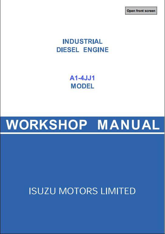 isuzu a1 4jj1 diesel engine workshop service repair manual