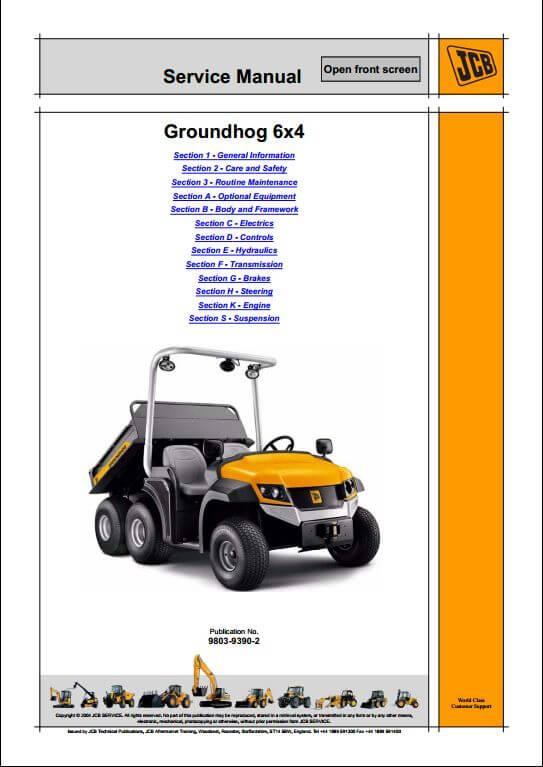 jcb groundhog 6 4 utility vehicle dumpster service repair. Black Bedroom Furniture Sets. Home Design Ideas