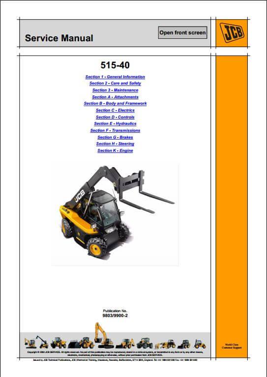 jcb launches new 515 40 compact telescopic handler service repair rh arepairmanual com