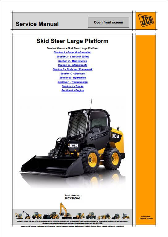 skid steer loader a repair manual store. Black Bedroom Furniture Sets. Home Design Ideas