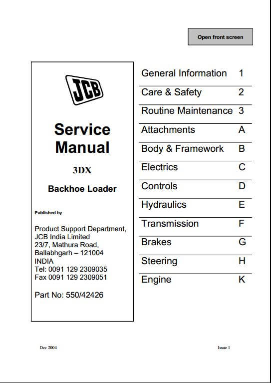 158 jcb 3dx backhoe loader service repair manual a repair manual store jcb 3dx electrical wiring diagram at edmiracle.co