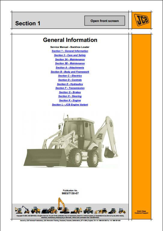 jcb 2cx 210 212 backhoe loader service repair manual a. Black Bedroom Furniture Sets. Home Design Ideas