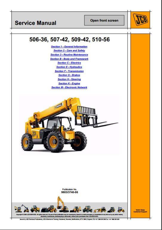 Jcb loadall 530b Service Manual