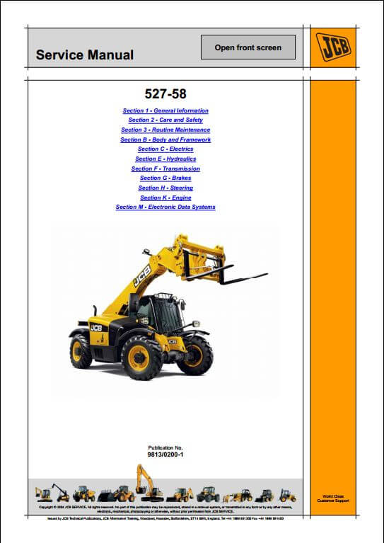 Telescopic Handler | A Repair Manual Store on