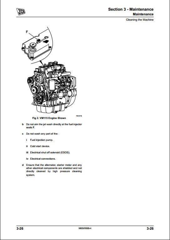 Jcb Vm 115d Parts Manual