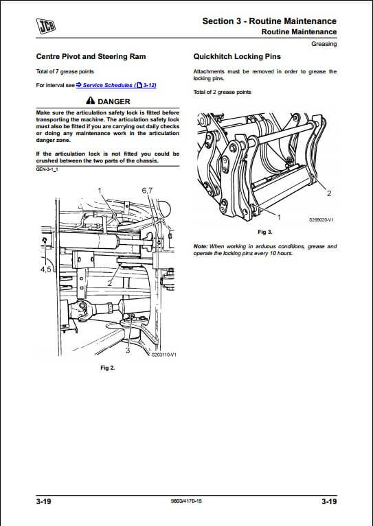 Jcb 412s 414s 416s Wheeled Loader Service Repair Manual