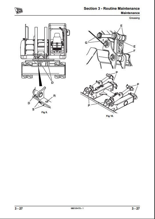 jcb js175w auto tracked excavators service repair manual