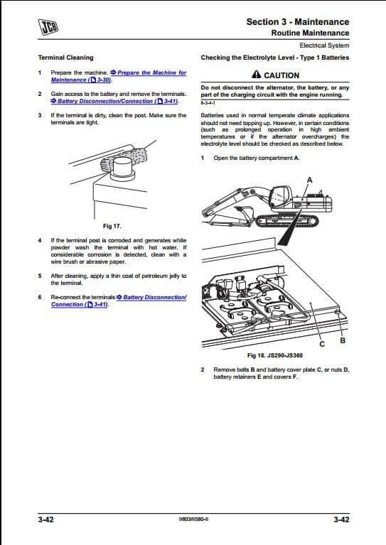 jcb js200 js260 tier iii auto tracked excavators service. Black Bedroom Furniture Sets. Home Design Ideas