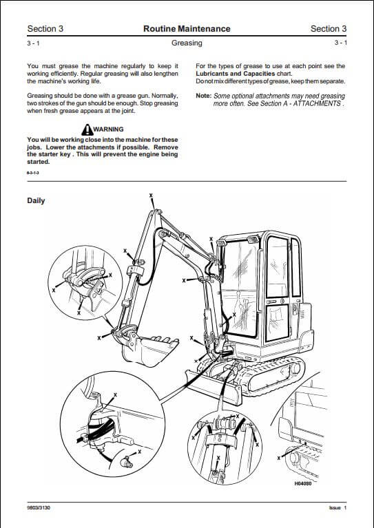 Jcb 801 4 801 5 801 6 Mini Excavator Service Repair Manual