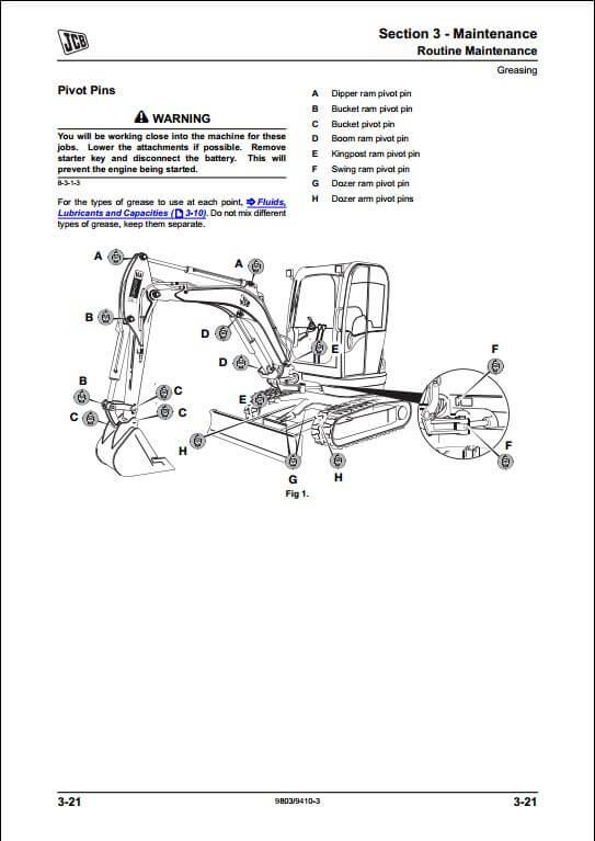 jcb 8025z 8030z 8035z mini excavator service repair manual