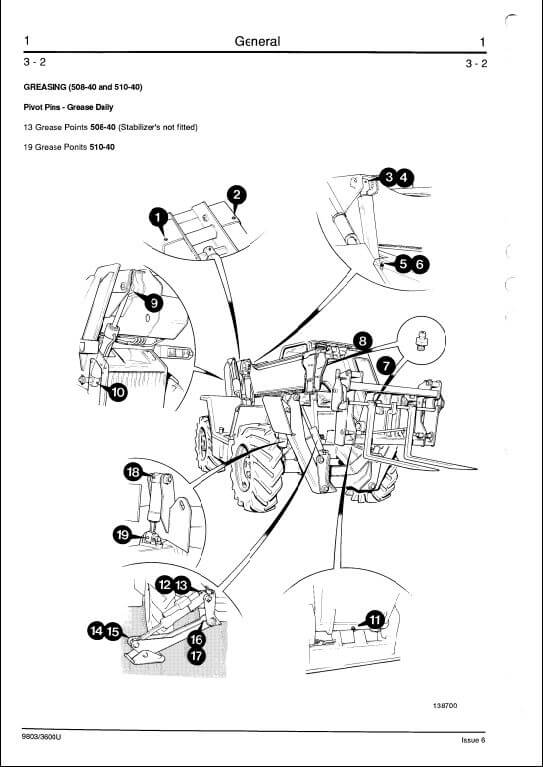 jcb 500 series telescopic handler service manual