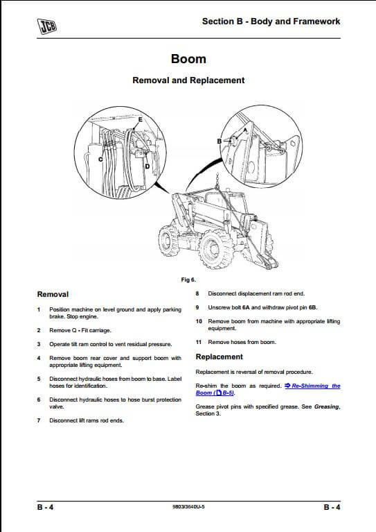 Jcb 506c 506chl 508c Loadalls Telescopic Handler Service Repair Manual