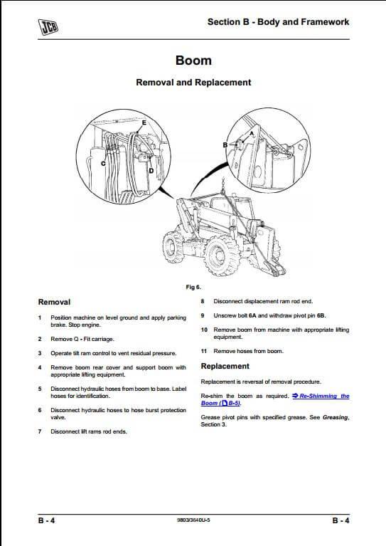 JCB 506C,506CHL,508C Loadalls Telescopic Handler Service Repair Manual