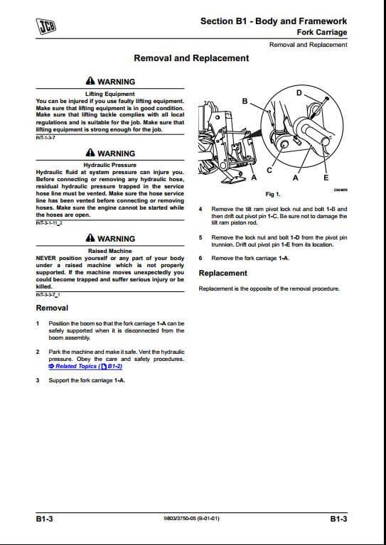 Jcb Side Engine Loadalls Telescopic Handler Service Repair