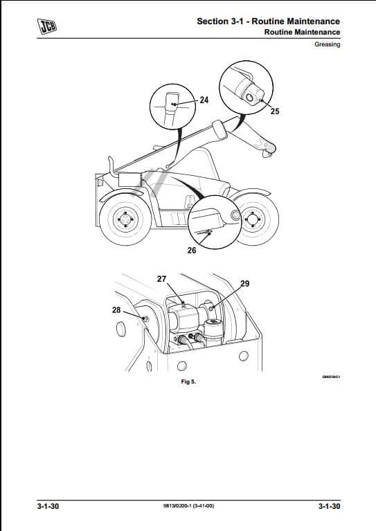 290 telescopic handler a repair manual store jcb 508c wiring diagram at panicattacktreatment.co