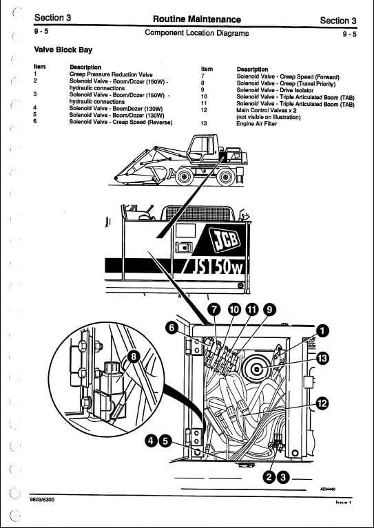 jcb js130w js150w tracked excavators service repair manual. Black Bedroom Furniture Sets. Home Design Ideas