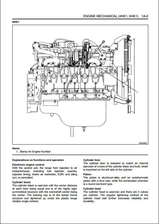 Isuzu Engine 4HK16HK1 Workshop Service Repair Manual   A