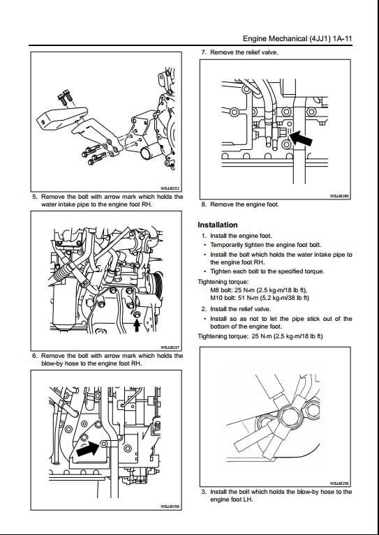 isuzu a1 4jj1 diesel engine workshop service repair manual. Black Bedroom Furniture Sets. Home Design Ideas