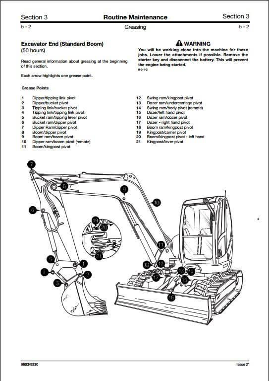 jcb 8080 track excavator service repair manual