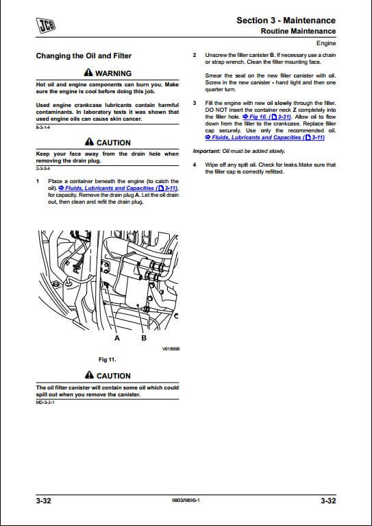 JCB 8055 8065 Midi Excavator Service Repair Manual
