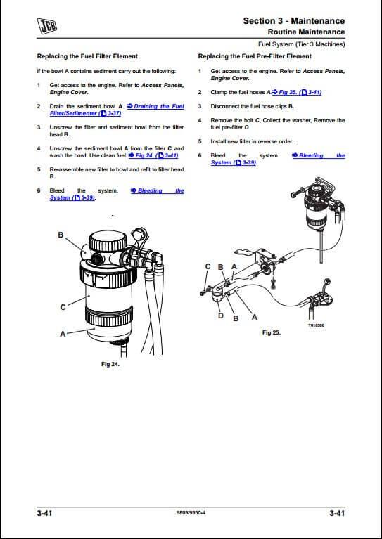 Jcb 8014 8016 8018 8020 Mini Excavator Service Repair