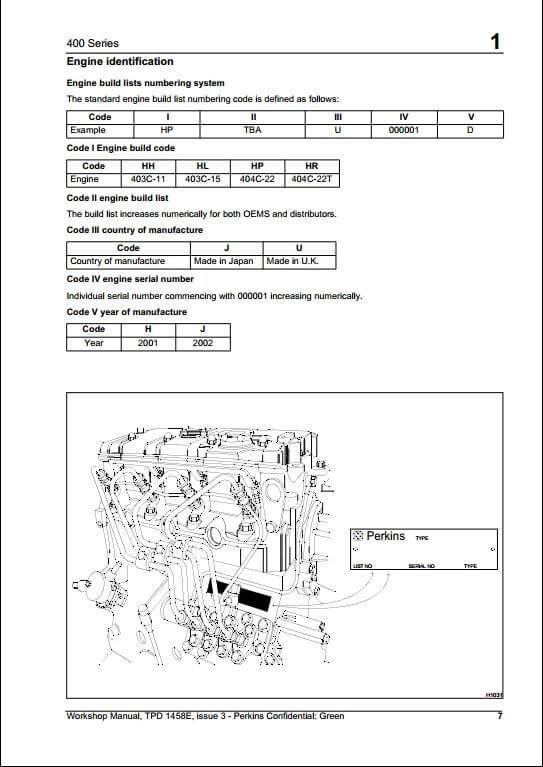 400 series a repair manual store rh arepairmanual com perkins engine manual ar50696 perkins engine manual tpd1377e