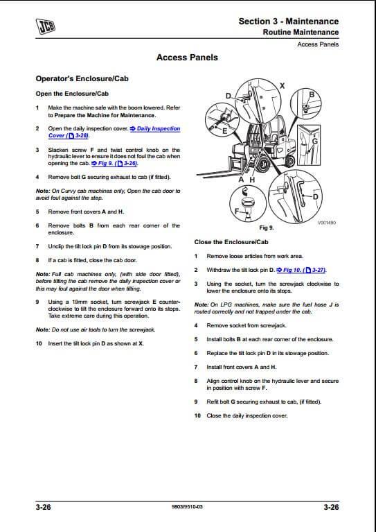 jcb teletruk skid steer loader service repair manual a. Black Bedroom Furniture Sets. Home Design Ideas