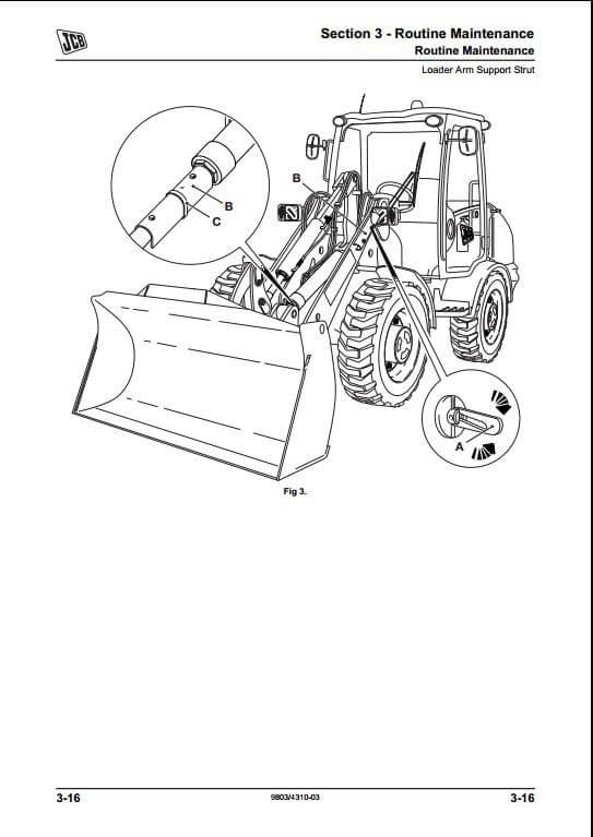 jcb 406 409 wheeled loading shovel service repair manual