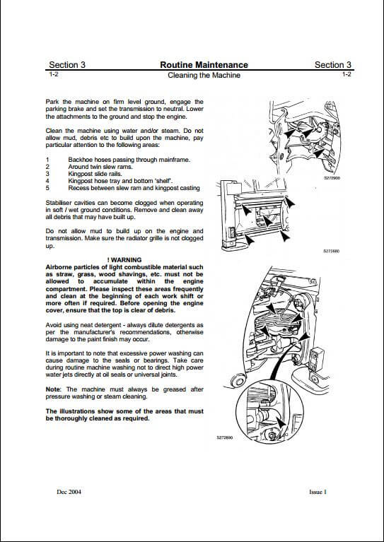jcb 3dx backhoe loader service repair manual a repair manual store rh arepairmanual com jcb 3d manual jcb 3dx specification manual