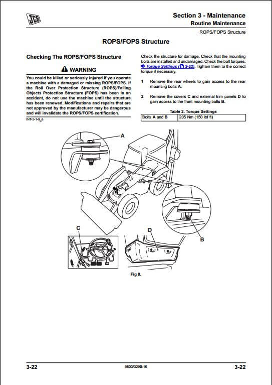 JCB 3C,3CX,4CX Backhoe Loader Service Repair Manual
