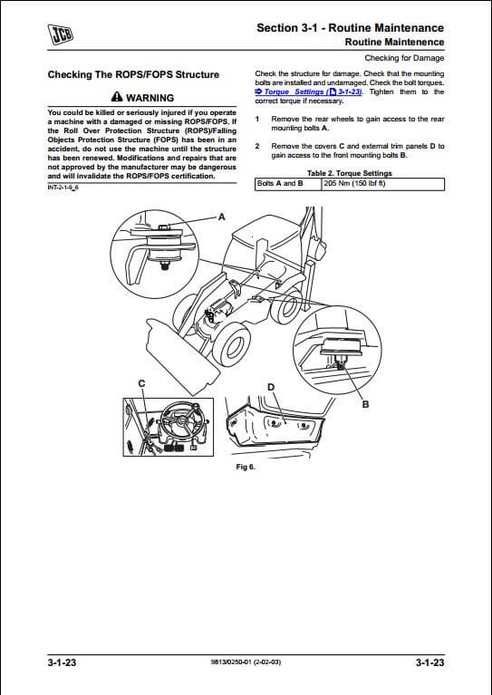 Jcb 3cx 4cx Backhoe Loader Service Repair Manual