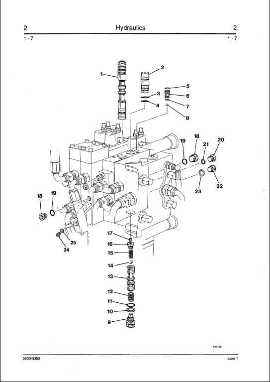 telescopic excavator parts diagram