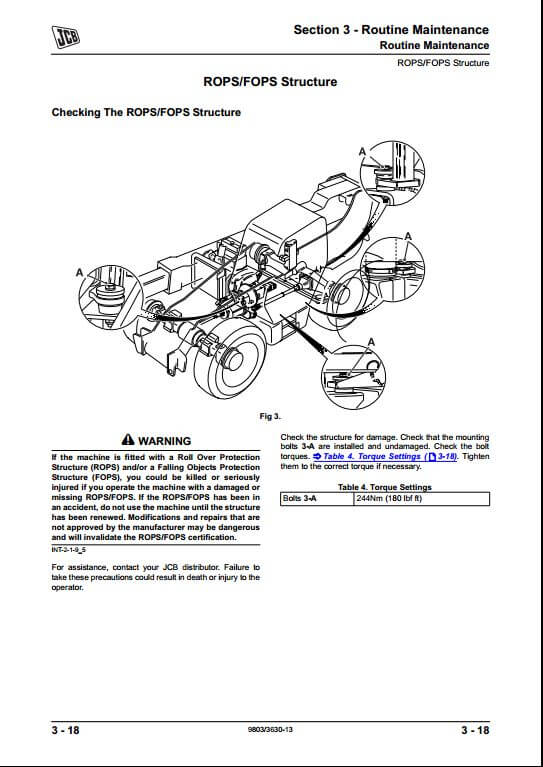 jcb 530 532 535 537 540 series loadall telescopic handler service repair manual