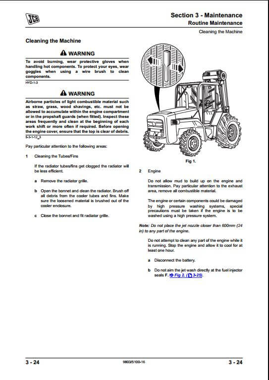 jcb 926 930 940 rough terrain fork lift service repair manual a rh arepairmanual com 800 Series Ford Tractor Wiring Diagram JCB Parts Catalog