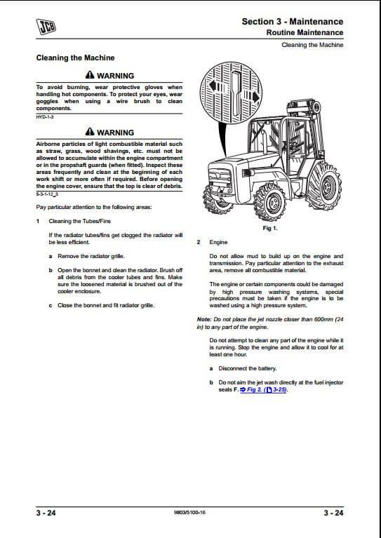 Jcb 926 930 940 Rough Terrain Fork Lift Service Repair