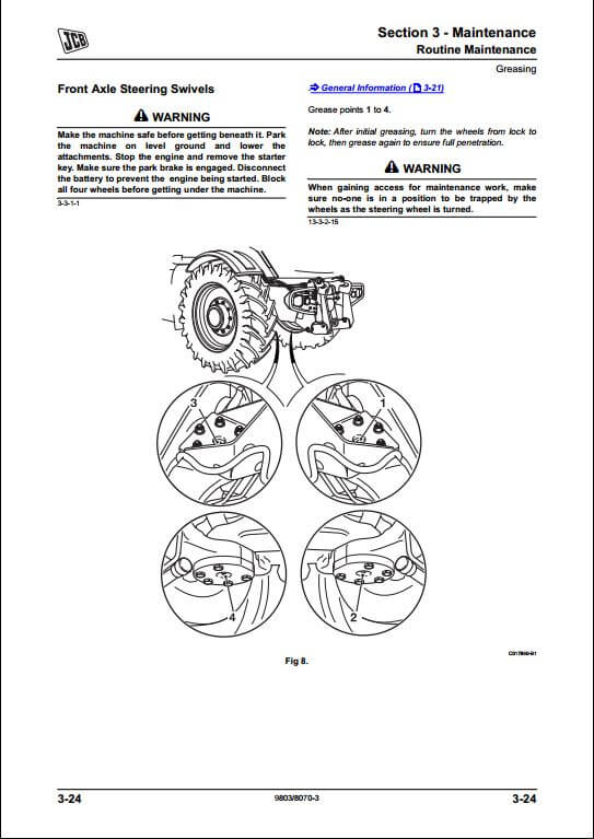 jcb 8250 fastrac service repair manual