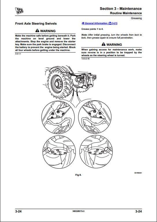 jcb 8250 fastrac service repair manual
