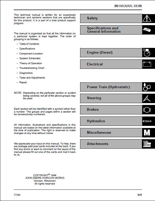 john deere mower repair manual