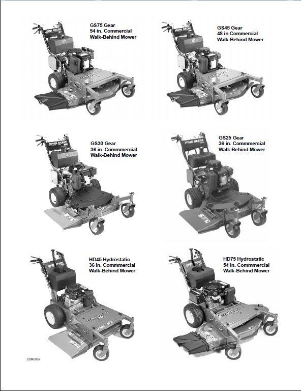 John Deere Gs30 Wiring Diagram : Mower a repair manual store