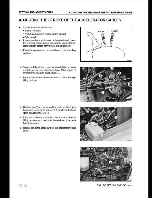 komatsu sk714 5 sk815 5 sk815 5 turbo skid steer loader service rh arepairmanual com